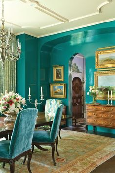 Fashionable victorian ash dining table perth just on omah home design Dining Room Walls, Dining Room Design, Turquoise Dining Room, Verde Aqua, Dining Room Table Centerpieces, Dining Decor, Centerpiece Ideas, Dining Tables, Kitchen Dining