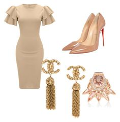 """""""Untitled #47"""" by ccrc on Polyvore featuring WithChic and Christian Louboutin Diva Fashion, Cute Fashion, Fashion Looks, Fashion Outfits, Womens Fashion, Fashion Trends, Classy Outfits, Casual Outfits, Cute Outfits"""