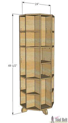 How to Build a Octagon Rotating Bookshelf!