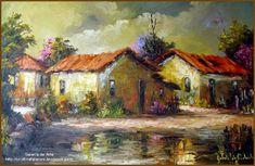 Landscape Drawings, Landscape Illustration, Cool Landscapes, Landscape Paintings, Tree Illustration, Urban Landscape, Abstract Landscape, Cottage Art, Amazing Paintings
