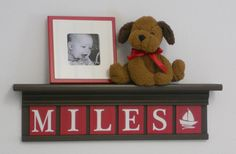 NAUTICAL Decorating with Shelves Red Nursery by NelsonsGifts, $48.00