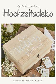 Wunderschöne Holzbox Mit Dem Spruch Our Wedding Memories Als Erinnerung An Eure