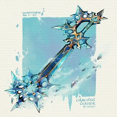 Fantasy Sword, Fantasy Weapons, Fantasy Art, Dungeons And Dragons Homebrew, D&d Dungeons And Dragons, Fantasy Character Design, Character Art, Kingdom Hearts Keyblade, Sword Design