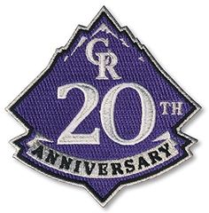 6a6b15cf8 Colorado Rockies MLB Baseball Jersey Patch - 2012 - 20th Anniversary -  Ships w/a Tracking Number