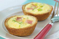 Ham & Cheese Breakfast Mini Quiches