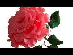Большая роза из гофрированной бумаги, мастер класс - YouTube