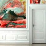 Watercolor Wallpaper by Black Crow Studios makes for unique wall art. Watercolor Wallpaper, Watercolor Walls, Of Wallpaper, Amazing Wallpaper, Custom Wallpaper, Watercolor Paper, Abstract Watercolor, Sparkle Wallpaper, Painted Wallpaper