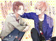 Sora(Tsukipro) and Koi Art Anime, Anime Kunst, Story Characters, Hero Academia Characters, Tsukiuta The Animation, Anime Life, Manga, Character Inspiration, Otaku