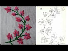 Supreme Best Stitches In Embroidery Ideas. Spectacular Best Stitches In Embroidery Ideas. Pillow Embroidery, Hand Embroidery Videos, Embroidery Stitches Tutorial, Flower Embroidery Designs, Hand Embroidery Stitches, Embroidery Applique, Beaded Embroidery, Embroidery Patterns, Diy Lace Ribbon Flowers