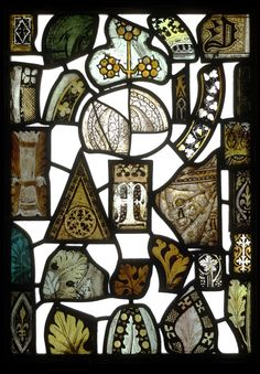 Glass Window Panel, Fragment, 15th century. England. V&A 1, 2
