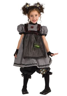 Analise wore this Halloween 2013. Very cute saving it for Alina.  Child Gothic Rag Doll Costume
