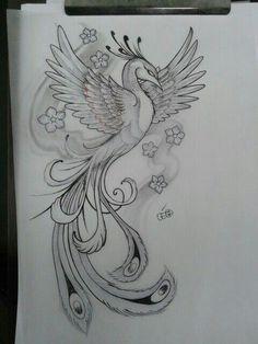 Резултат с изображение за tatuagens femininas nas costas fenix