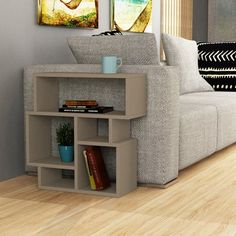 Small Side Table White Wooden Storage Book Shelves Unit Coffee End Modern Tables Living Room Furniture, Modern Furniture, Furniture Design, Wooden Side Table, Wood Table, Side Table With Storage, White Side Tables, Sofa Tables, Furniture Deals