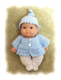 Cute doll's outfit  Top Knot Romper for 8 Inch Berenguer pattern by Amy Carrico