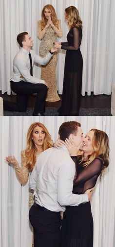 Celine Dion photobombed this proposal in the best way! The full story is beyond sweet.