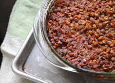 recipe: barbecue baked lentils, minus the grill - A Way to Garden