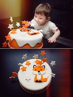 Rosanna Pansino Fabulous Fox Cake Kuchen // Geburtstag / Kinder / Fuchs The po. Baby Cakes, Baby Shower Cakes, Fondant Cakes, Cupcake Cakes, Fox Cake, Fox Party, Decoration Patisserie, Cakes Plus, Animal Cakes