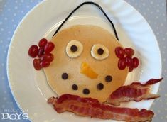 Snowman Pancakes: Fun Christmas Breakfast - The Joys of Boys