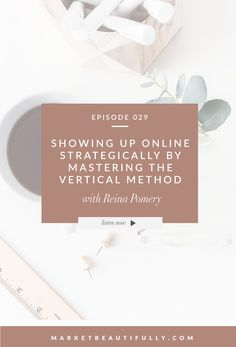 Pin the image below to save this episode and follow on Pinterest by clicking here! SHOW NOTES Follow Reina on Instagram Visit Reina's website at reinaandco.com Read Reina's article on the Vertical Method Grab free access to Reina's trello board for the Vertical Method Join her Facebook Group