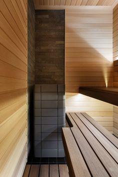 Электрическая печь для мини-бани с красивым дизайном Sauna Design, Modern Interior, Interior Design, Art Studio Design, Flyer Design, Garage Doors, Spa, Stairs, Architecture