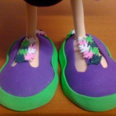 Detalle pies Fofucha Hada morena/Feet of Fofucha doll Fairy