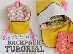 hart + sew | Vintage Baby Clothing: (back) to school Backpack Tutorial ~ I think I know a little girl who would love this