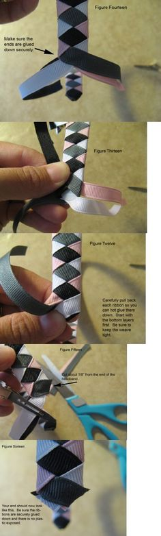 Ribbon Woven Headband Instructions Source by jennifferlisett outfits Ribbon Art, Diy Ribbon, Ribbon Crafts, Ribbon Bows, Fabric Crafts, Ribbons, Ribbon Headbands, Diy Headband, Custom Headbands