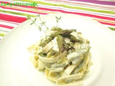 Lasagnette con asparagi e robiola - Pasta with asparagus and cheese http://zampetteinpasta.blogspot.it/2012/04/lasagnette-con-asparagi-e-robiola.html
