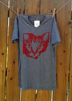 OHIO CAT V neck by PersonalBaggage on Etsy, $20.00