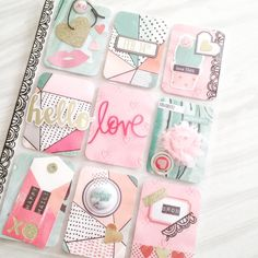 My Valentine Pocket Letter for the Valentine Planner event using paper, die cuts, flair. Scrapbook Paper Flowers, Scrapbook Paper Crafts, Pocket Pal, Pocket Cards, Project Life, Pocket Full Of Sunshine, Diy Crafts For Girls, Pocket Scrapbooking, Crate Paper
