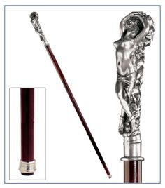 Design Toscano The Padrone Collection: Andromeda Pewter Walking Stick Walking Sticks And Canes, Walking Canes, Custom Canes, Folding Cane, Cane Handles, Creative Workshop, Walk This Way, Dope Art, Gentleman Style