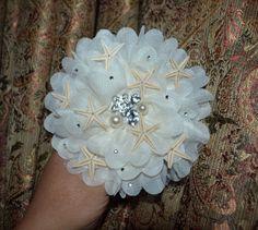 starfish hair clip mermaid hair clip  beach by creatingwithni