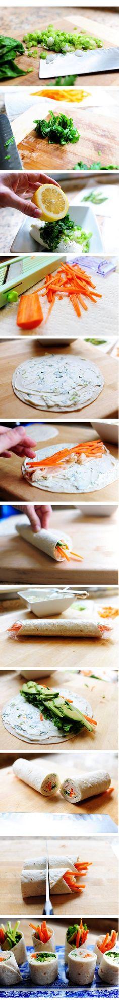 How to Make Tortilla Roll-ups ;)