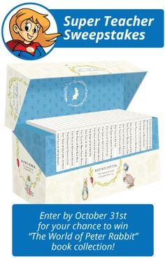 There's still time to enter the Super Teacher Sweepstakes for October! You won't want to miss your chance to win a classroom set of classic books by Beatrix Potter! Contest ends October Teacher Worksheets, Grammar Worksheets, Classroom Setting, A Classroom, Peter Rabbit Books, Beatrix Potter Books, Spelling Lists, Classic Books, Writing Skills