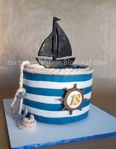 Geburtstag-Erwachsene » Schiff ahoi! Maritime Geburtstagstorte