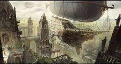 airship city by Min-Nguen.deviantart.com on @DeviantArt