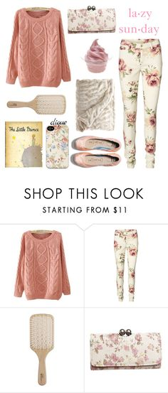 """Lazy Sunday"" by jasminerb ❤ liked on Polyvore featuring Vero Moda, Philip Kingsley, Wet Seal, ...Lost, Disney, TOMS, floral, Pink, LazyDay and lazy"