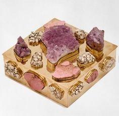 Amethyst brass bauble box by Kelly Wearstler.