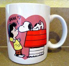 I LOVE YOU Snoopy Dog Peanuts Lucy Mug