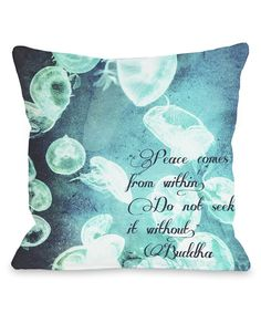 Blue 'From Within' Throw Pillow