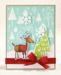Stamp a Christmas card with Hero Arts   Papercraft Inspirations