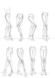 Anatomy Drawing Tutorial anatomy for artists - Drawing Legs, Drawing Poses, Drawing Body Proportions, Drawing Drawing, Life Drawing, Face Structure Drawing, Comic Book Drawing, Drawing Hands, Female Drawing