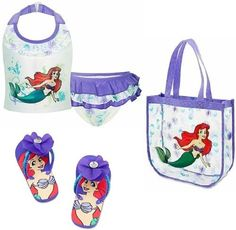 Disney Store Princess Ariel The Little Mermaid 3-Piece Swimwear Set: Swimsuit (Size XS 4), Flip-Flops (Size 9/10) and Beach Tote Bag by Disney Store, http://www.amazon.com/dp/B0083RKNWC/ref=cm_sw_r_pi_dp_yBgsrb0MWFH6B
