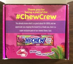Free  Hi-Chew Acai Fruity Chews #freestuff #freebies #samples #free