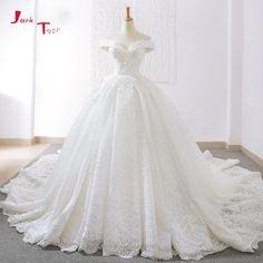 Wedding Dresses Jark Tozr Robe Princesse Mariage Lace Inside Vintage Ball Gown Wedding Dresses Long Sleeve 2019 Illusion Back Traje De Novia