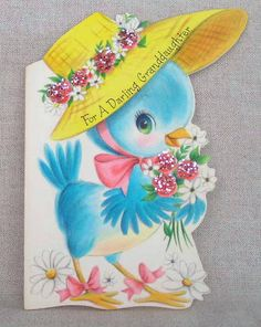 Bluebird vintage card