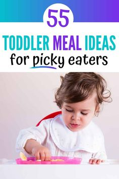 Over 50 easy toddler meals for a picky eaters. Sample meal ideas for breakfast, lunch, dinner and snack. I've also included tips for brining lunch to daycare, too! These meals work best for one year olds and two year olds. Picky Toddler Meals, Toddler Lunches, Kids Meals, Toddler Food, Meals For Toddlers, Toddler Dinners, Baby Meals, Baby Foods, Strip Steak
