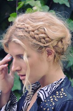 Embrace your bad hair day by transforming your mane into beach hair and incorporating braids. Now you're bohemian.