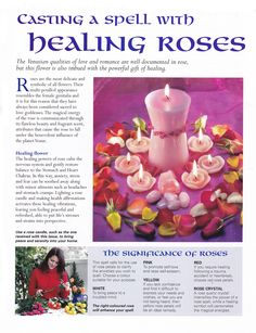 Casting a spell with healing Roses