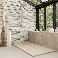 Sequoia, el plato de ducha más perennifolio del mercado : Bosnor Solid Surface, Sequoia, Divider, Shower, Room, Furniture, Home Decor, Natural Bathroom, Bathroom Trends